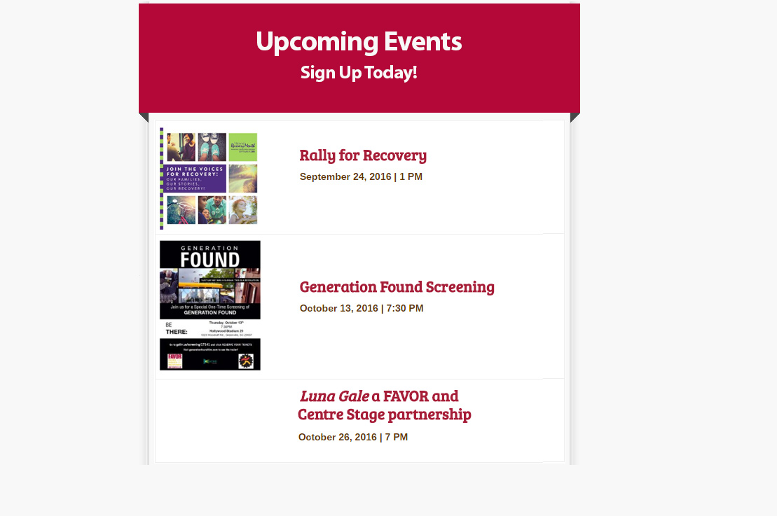 Rally for Recovery, Generation Found Screening, Luna Gale - Sign Up Today