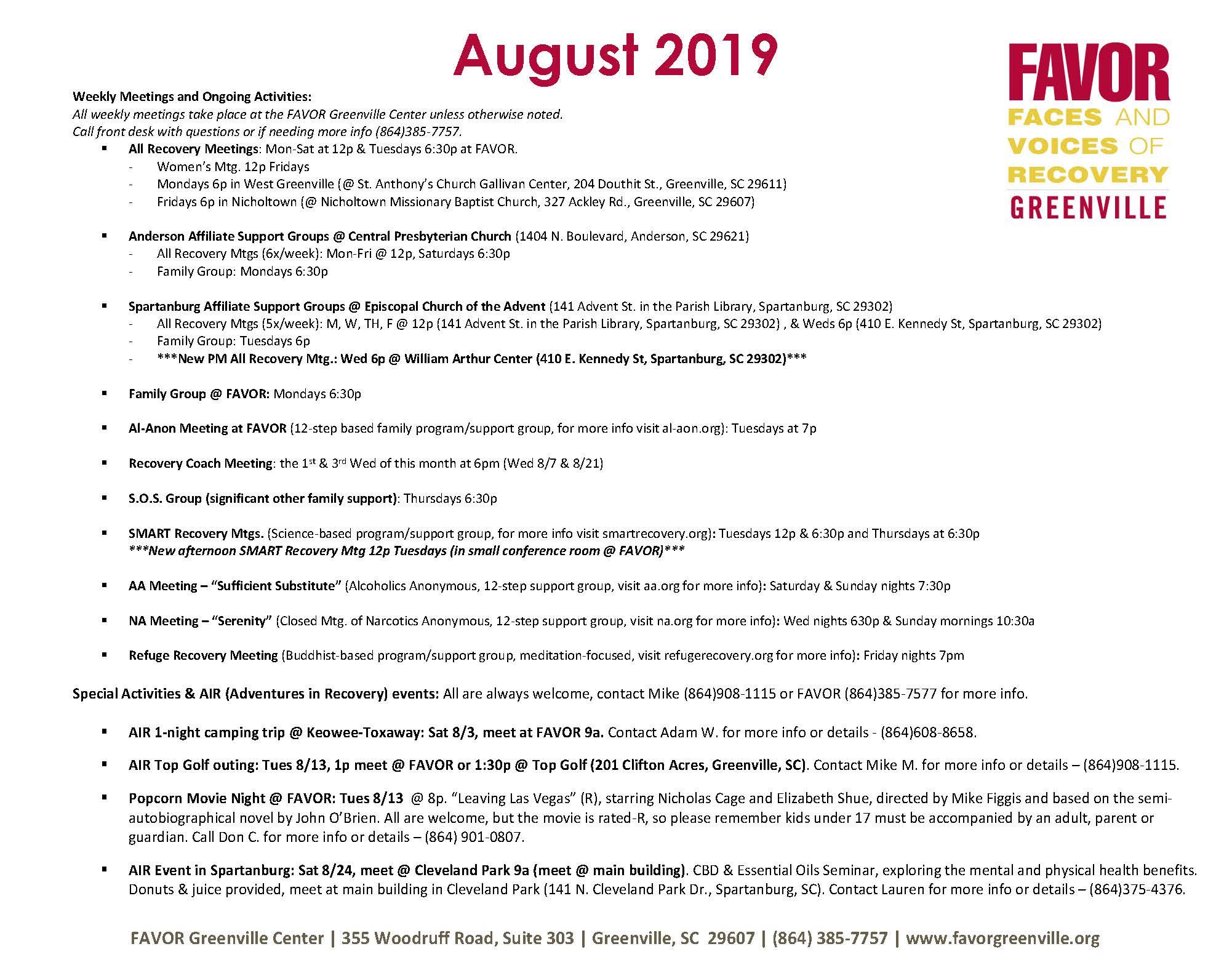 Greenville Sc Calendar Of Events December 2019 Calendar | FAVOR Greenville